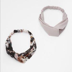 Two Piece Floral Headwrap Set